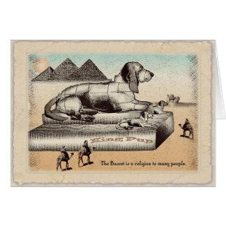 Geburtstagskarte - Dachshundsphinx Karte