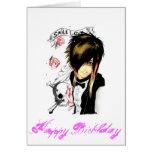 Geburtstagskarte des Mädchens