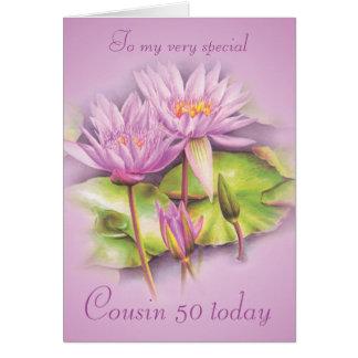 Geburtstagskarte des Wasserlilienlila Karte