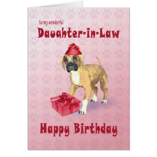 Geburtstagskarte für eine Schwiegertochter mit Karte