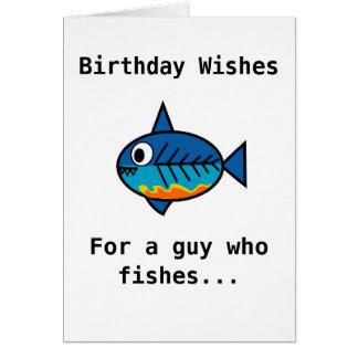 Geburtstagskarte für einen Typ, der fischt Grußkarte
