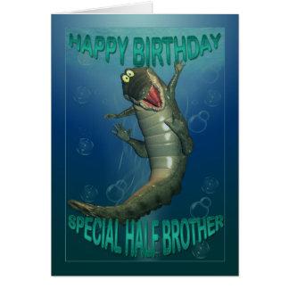 Geburtstagskarte für Halbbruder, bissiger Topf Karte