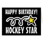 Geburtstagskarte für Hockeyspieler Karte