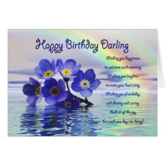 Geburtstagskarte für Liebling mit Karte