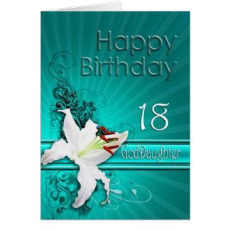Geburtstagskarte für Patenttochter 18, mit einer Karte