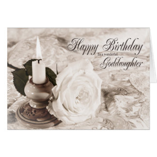 Geburtstagskarte für Patenttochter, die Kerze und Karte