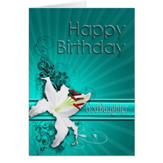 Geburtstagskarte für Patenttochter, mit einer Karte