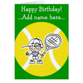 Geburtstagskarte für Tennisspielerkinder Grußkarte