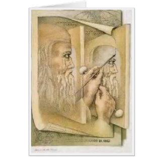 Geburtstagskarte - Leonardo da Vinci Karte
