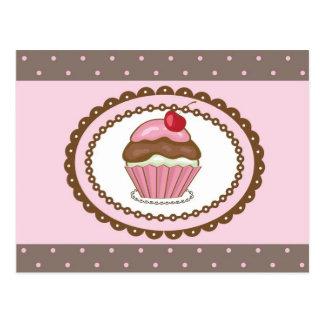 Geburtstagskarte mit kleinem Kuchen Postkarte