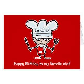 Geburtstagskarten für Köche u. Köche - Kauf hier Karte