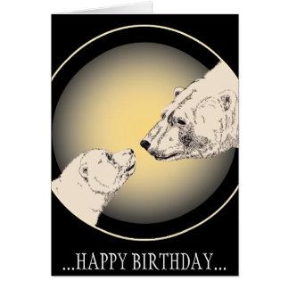 Geburtstagskarten-kundenspezifische polarer Bärn-G Grußkarten