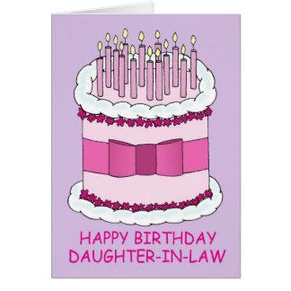 Geburtstagskuchen, Schwiegertochter Karte