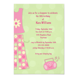 Geburtstagsleepover-Einladung 12,7 X 17,8 Cm Einladungskarte
