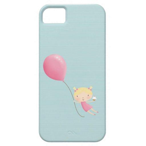 Geburtstagsmädchen in der Luft-Handyabdeckung iPhone 5 Case
