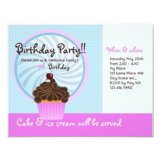 Geburtstagsmädchen laden ein personalisierte einladung