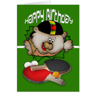 Geburtstagssport Klingeln Pong Tischtennis Karte