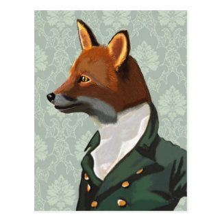 Geckiges Fox-Porträt 2 Postkarte