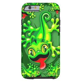 Gecko-Eidechsen-Baby-Cartoon Tough iPhone 6 Hülle