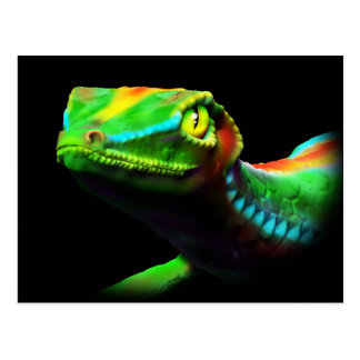 Gecko-Eidechsen-Regenbogen färbt Postkarten