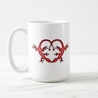 Gecko-Herz Kaffeetasse