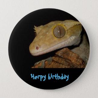 Gecko mit Haube Runder Button 10,2 Cm