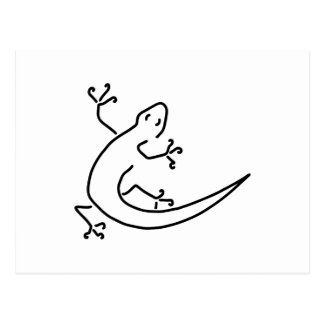 gecko salamander molch bionik postkarte