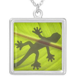 Gecko Versilberte Kette
