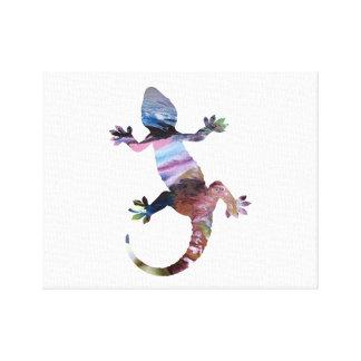 Geckokunst Leinwanddruck