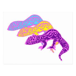 Geckos 01 postkarte