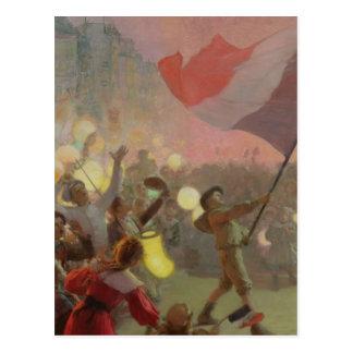 Gedächtnis des nationalen Festivals, 1895 Postkarte