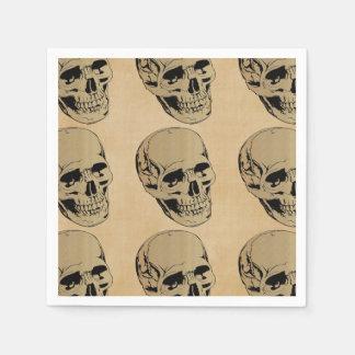 Gedämpfter Brown-Schädel-Kopf Papierservietten