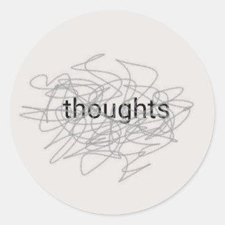 Gedanken Runder Aufkleber
