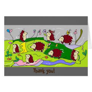 """Gedehnt sprechende Igel sagen, dass """"danke """" Karte"""