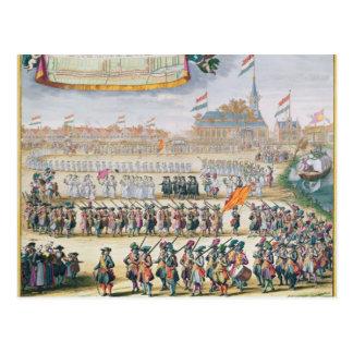 Gedenken des Friedens von Rijswijk, 1697 Postkarte