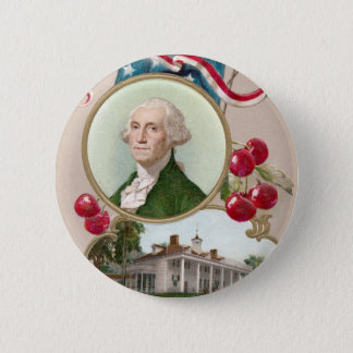 Gedenken von George Washington Runder Button 5,1 Cm