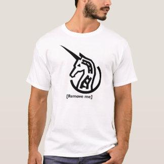 Gedenkendes weißes Shirt des Unicorn-Bericht- über
