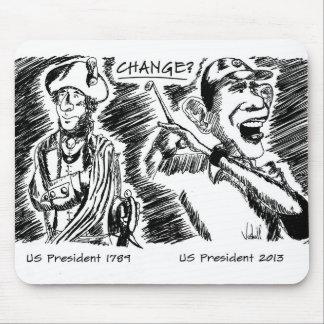 Gedenkmausunterlage Obama und Washington Mousepads