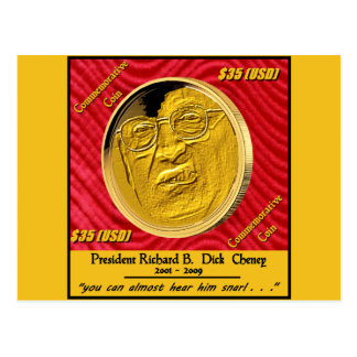 Gedenkmünze Präsidenten-Dick Cheney Postkarte