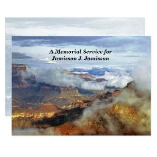 Gedenkveranstaltung-Einladung, Schlucht-Wolken 12,7 X 17,8 Cm Einladungskarte