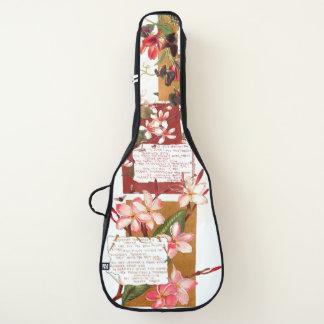 Gedicht-Blüten-Patchwork-weicher Gitarrentasche