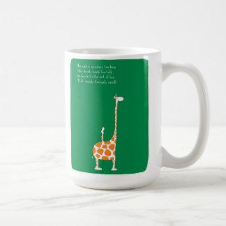 Gedicht der Giraffen-HP2129 Kaffeetasse