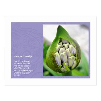 Gedicht für ein neues Leben Postkarte