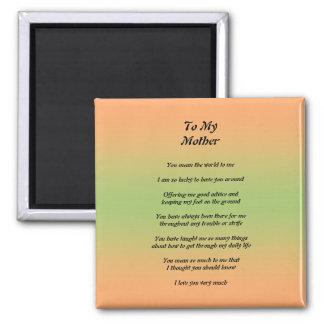 Gedicht-Magnet der Mutter Tages Magnets