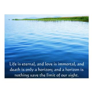 Gedicht über Tod - inspirierend Sorgen machendes Postkarte