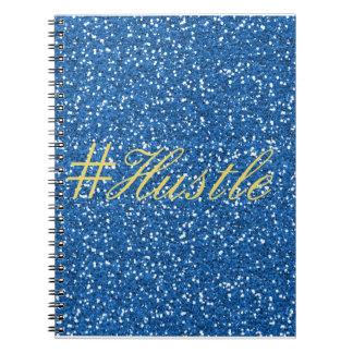 Gedränge-Imitat-blauer Glitter-Entwurf Notizblock