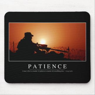 Geduld: Inspirierend Zitat Mousepad