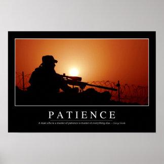 Geduld: Inspirierend Zitat Poster