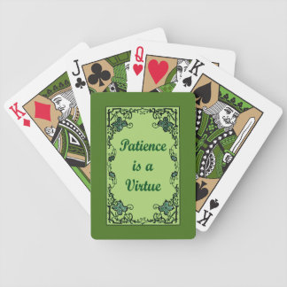 Geduld ist ein Vorzug Bicycle Spielkarten