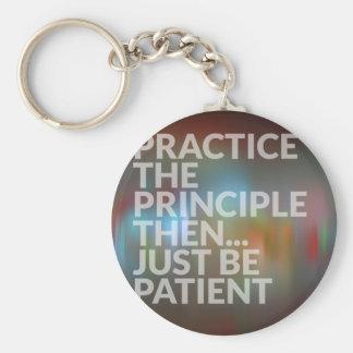 Geduld Schlüsselanhänger